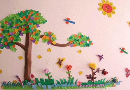 关于幼儿园墙饰设计的几个探究