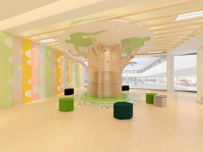 幼儿园大厅装修,幼儿园大厅改造,幼儿园大厅设计,广州幼儿园装修