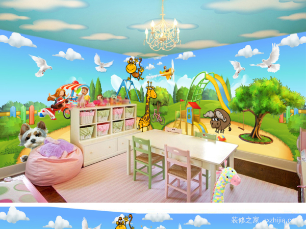 幼儿园墙纸装饰怎么选?